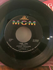 """JOHNNY TILLOTSON-2 Orig. 45's-""""I Rise, I Fall"""" & """"Out Of My Mind'""""-MGM-NM/VG+"""