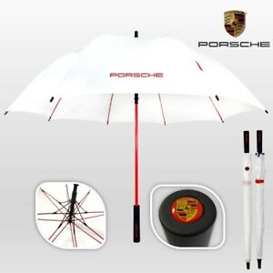 Porsche Design Umbrella Large Golf Automatic Luxury Brolly White Red Anti UV