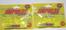 "Northland Tackle Impluse 1.5"" Paddle Tail Jig Trailer (Lot of 2-Hot Chart-10/pk)"