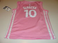 NBA Toronto Raptors DeMar DeRozan Pink Girls Child 2015-16 Jersey Medium  Age 5  f2afda1fd