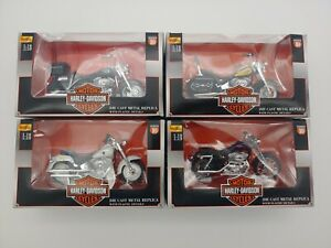Maisto Harley-Davidson Series 10  1:18 Scale Lot of 4 Motorcycles 2000