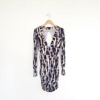 Cooper St Womens Size 8 Long Sleeve Animal Print Bodycon Stretchy Dress