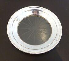 "Vintage Silver-plate & Glass Candy Dessert Dish Server Starburst Etching 6"""