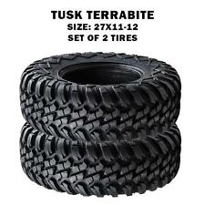 Tusk Terrabite Radial Steel Belted ATV/UTV 27x11-12 Tires Set of 2 Polaris