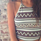 Womens Crop Top Sleeveless Summer Casual Tank Tops Vest Blouse T Shirt 6 8 10 12