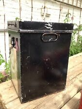 Metal storage box/Metal Trunk/Ballot box/Vintage ballot box/Metal Tool Box
