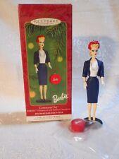 2000 Hallmark Barbie Commuter Set Keepsake Ornament Hat Box Nostalgic Series 7th