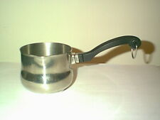 NICE FARBERWARE S/S 5/8 QT BUTTER WARMER SAUCE PAN TRI PLY DISC BOTTOM & SPOUT