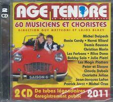 2 CD Age tendre La tournée des idoles,Vol.6 Neuf sous cellophane 37 titres