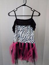Zebra Girl's Halloween Dress-up Costume 8-10 Medium Dress Only #5330