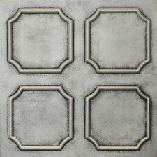 Styrofoam Ceiling Tiles 20x20 Painted R1 Antique Silver