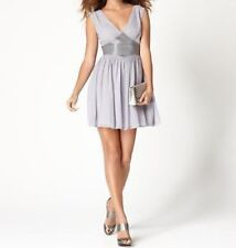 GUESS ROBE TAILLE 6 Lavande mousseline de Soie Perlé Empire Cocktail trapèze