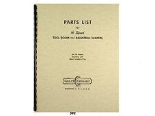 Gould & Eberhardt 16 Speed Metal Shaper  Parts List Manual  *392