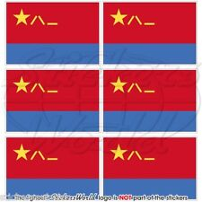 CHINA Chinese AirForce PLAAF Flag 40mm Mobile Cell Phone Mini Stickers-Decals x6