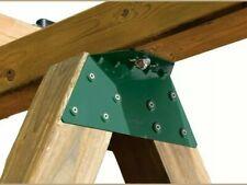 Ez A-Frame Bracket Durable Steel Metal Swing Set Powder Coated 2X4 Green (T34)
