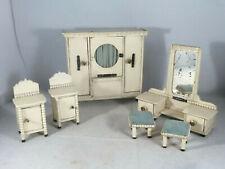 Puppenstuben-Schlafzimmer / Einrichtung / Möbel, 6 Teile