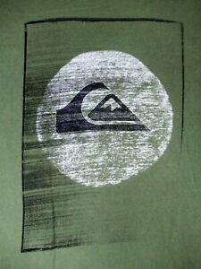 QUIKSILVER - WAVE & MOUNTAIN LOGO - 2XL - GREEN T-SHIRT- C418
