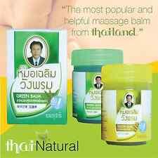 Green Massage Balm Thai Herbal Spa Pain Swellin Releif Wangphrom Wang 3x 50g