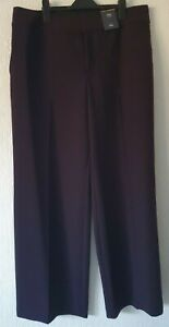 NWT M&S COLLECTION PURPLE WIDE LEG TROUSERS MID RISE REGULAR RRP £29.50
