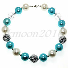 Blue pearl Chunky Beads Bubblegum Gumball Lovely Necklace for Kids Gumball Gifts