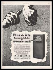 Publicité TSF Poste Radio LL L.L. Synchrodyne vintage print ad  1927 -10j