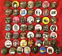 "Big Lot of 50 Post Punk 80's New Wave Rock Band Buttons Pins 1"" Pinbacks + BONUS"