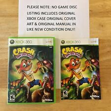 Crash Mind Over Mutant Xbox 360 Original Case Cover Art & Manual NO GAME