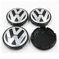 4 PCS 65mm Wheel Center Hub Caps Cover Badge Emblem For Volkswagen VW