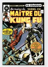 FRENCH COMIC FRANÇAIS EDITION HERITAGE CANADA  MASTER MAITRE KUNG FU  #  22