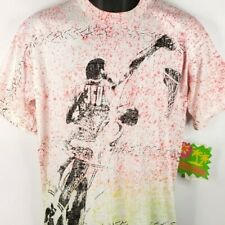AWOL 360 Basketball T Shirt Vintage 90s 1990 All Over Print Made In USA Large
