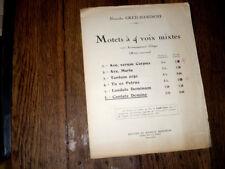 Cantate Domino 6ème motet à 4 voix mixtes et orgue 1937 Gretchaninoff