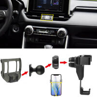 Carbon Fiber Look Car Air Vent Mount Phone Holder for Toyota RAV4 2019 - 2021