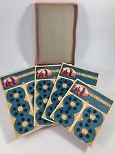 Mercerie 1910, boite de 4 plaques boutons pression Le Prophète, diam: 0,7cm noir