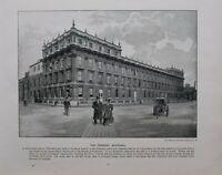 1896 London Aufdruck + Text The Treasury Whitehall
