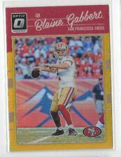 2016 Optic Blaine Gabbert GOLD # 8/10 49ers