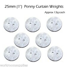 8 x 25mm Lead Penny Curtain Weights approx 13g each