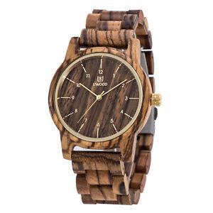 UWOOD Zebra Wood Watch for Men Handmade Men's Wooden Watch Christmas Gift