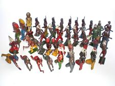 JOHILLCO, BRITAINS vintage INDIAN WILD WEST metal  figures lead toys