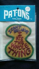 Vintage Pat-Ons Patch By Nielsen (nos)