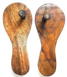 Wood Paduka (11 inch, Brown)