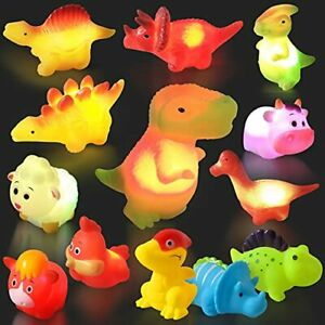 17 Packs Light up Baby Bath Toys for Toddlers 1-3Flashing Color Changing Ligh...