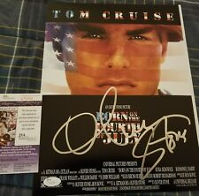 Oliver Stone (Producer) Signed Born on the 4th of July 11x14 in person. JSA CERT