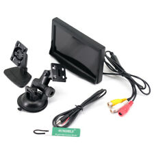 5 Inch TFT LCD Car Rear View Monitor + 2 Stand For Reverse Backup Camera VCR DVD