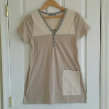 Urban Renewal Urban Outfitters T-Shirt Dress  S/M Beige Striped USA Cut out back