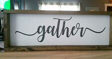 farmhouse decor sign, gather, farmhouse dining room sign,  rustic dining room