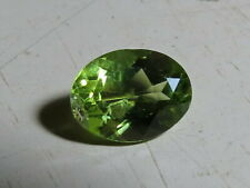 8x6mm NATURAL GREEN PERIDOT faceted OVAL CUT LOOSE GEMSTONE cut from nat. rough