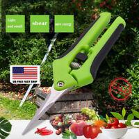 Garden Scissors Pruning Shears Stainless Steel Fruit Branches Hand Pruner Cutter