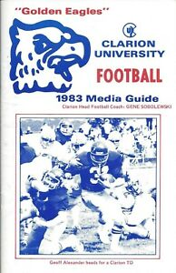 1983 Clarion Golden Eagles Football Media Guide HC Gene Sobolewski