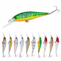 10PCS/Set 10.5cm/9.5g Trolling Bait Minnow Fishing Lure Bass Crankbait Tackle