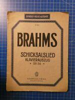 Brahms Schicksalslied Klavierauszug Simrock Volks Ausgabe Nr.401 H10276